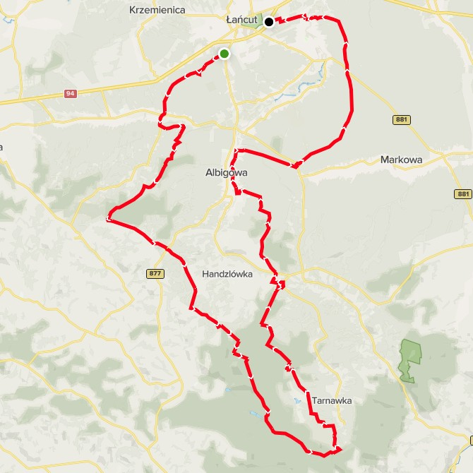 Trasy biegów Hrabiego